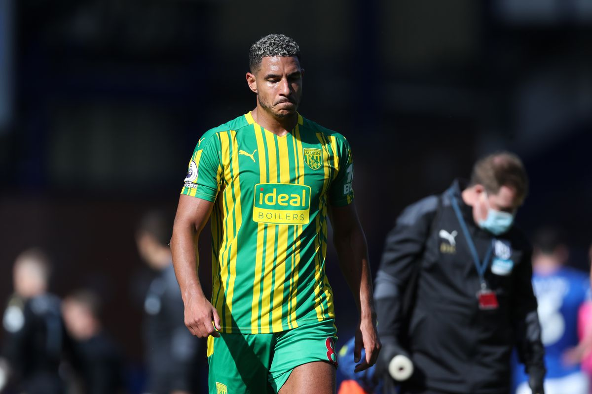 A dejected Jake Livermore of West Bromwich Albion leaves the pitch at the end of the game after losing 5-2. (AMA)