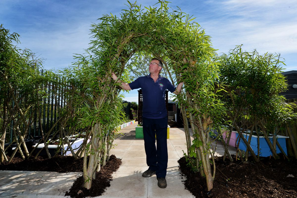 School gardener Steve Hall