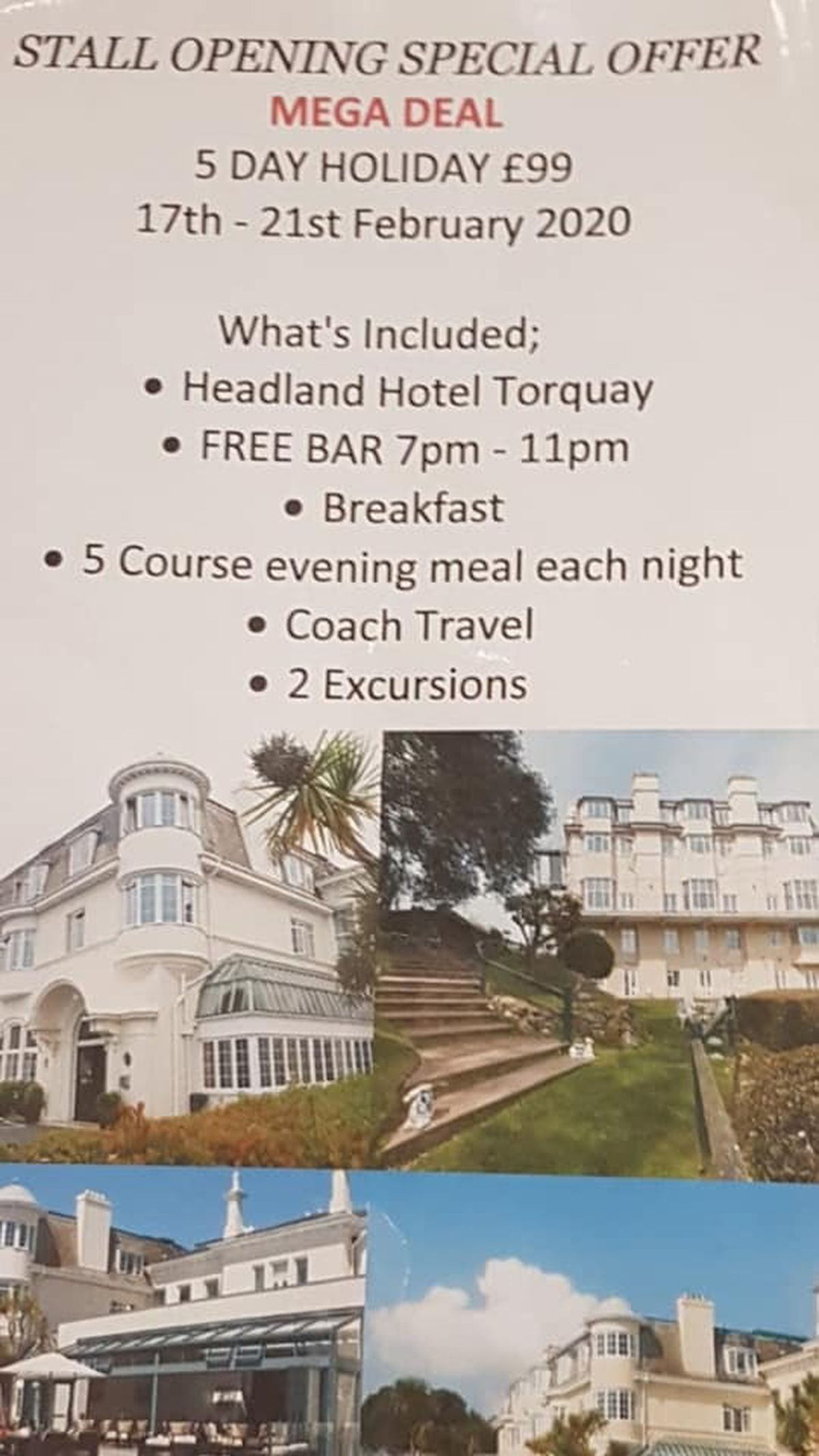The advert for the Torquay trip. Image: Facebook