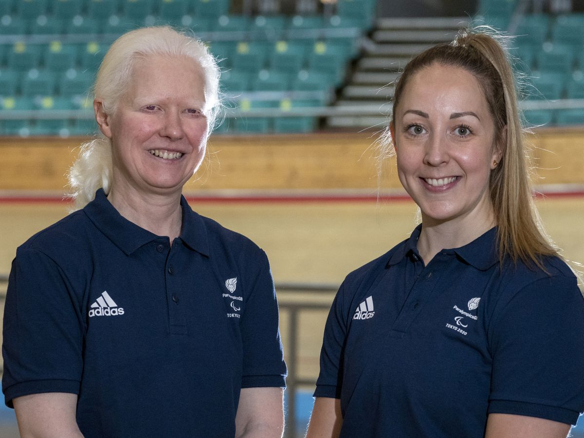 Aileen McGlynn (left) and Pilot rider Helen Scott (right) during the British Paralympic Association kitting out for the Para cycling athletes to represent ParalympicsGB at the rescheduled Tokyo 2020 Paralympic Games.