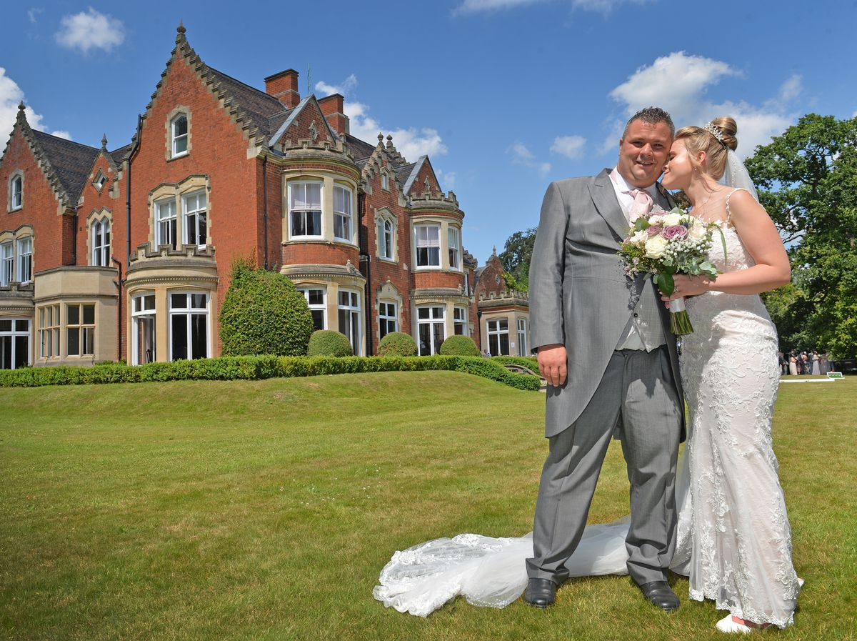 Alan Whitehouse and Victoria Weston at Pendrell Hall, one of the first weddings with no restrictions