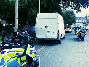 The van which was stopped in Netherton