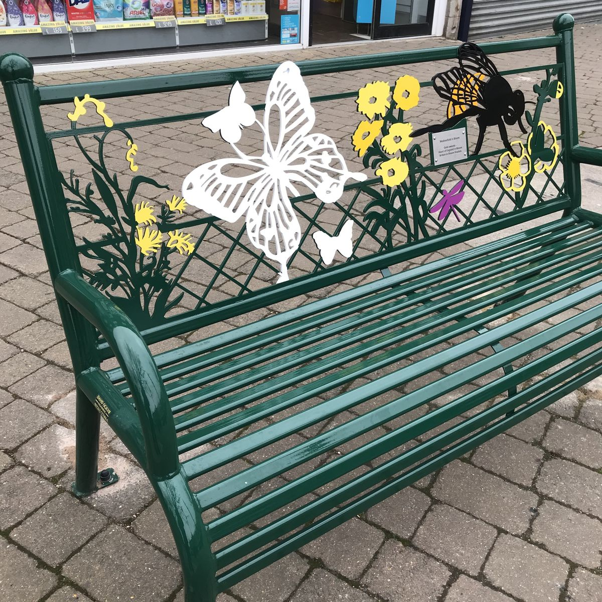 One of the new benches installed in Wednesfield