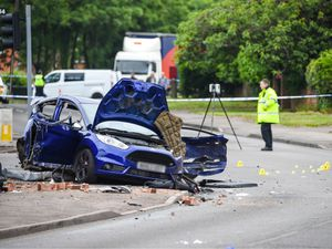 The scene of the crash at the junction of Norton Road and Wolverhampton Road in Pelsall. Photo: SnapperSK.