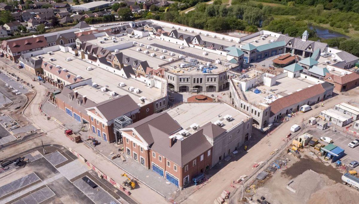 Work is progressing on McArthurGlen Designer Outlet West Midlands