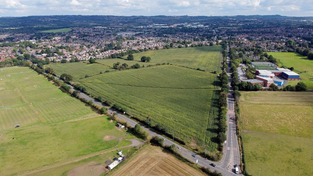 The 'triangle' off Kidderminster Road, Kingswinford, which could be full of housing