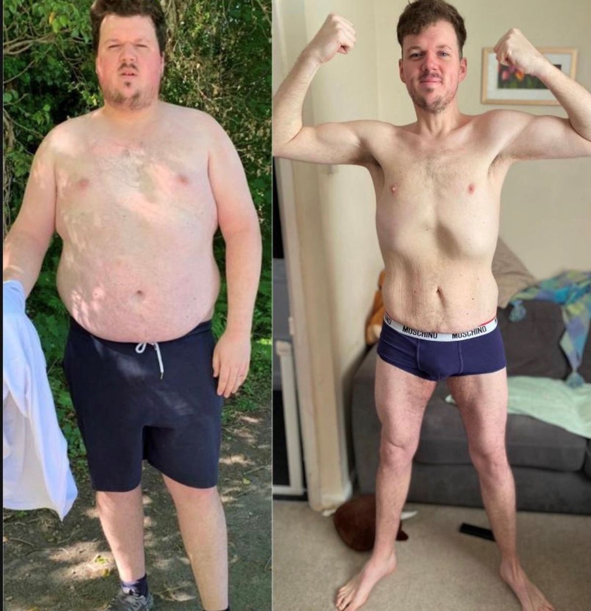 Slimmer Tim Kershaw (before and after)