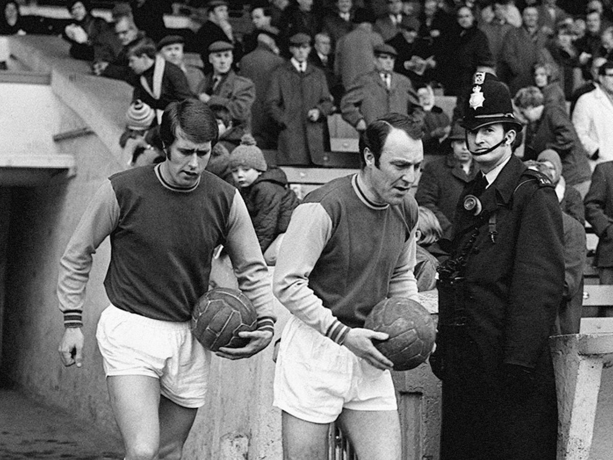 Sir Geoff Hurst and Jimmy Greaves