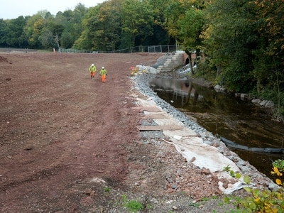 Flood defence work nearing completion