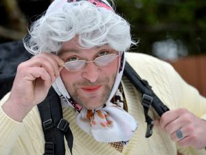 Martin Jones, from Willenhall, dressed as a granny for his charity challenge