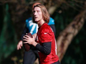 Jacksonville Jaguars quarterback Trevor Lawrence is looking for his first NFL win