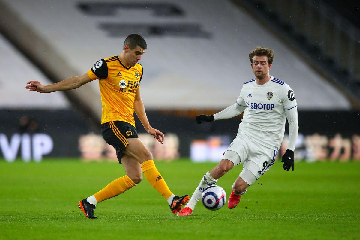 Conor Coady of Wolverhampton Wanderers and Patrick Bamford of Leeds United (AMA)