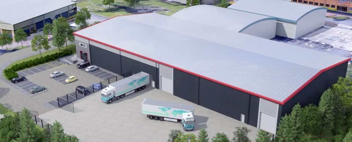 Artist's impression of a proposed new warehouse unit at Wharf Approach in Aldridge. PIC: Align Architecture.