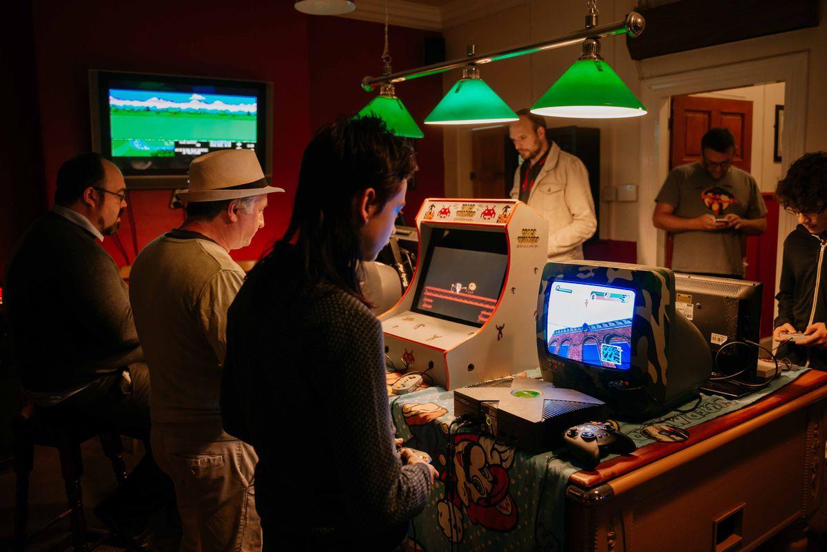 Visitors took on retro games
