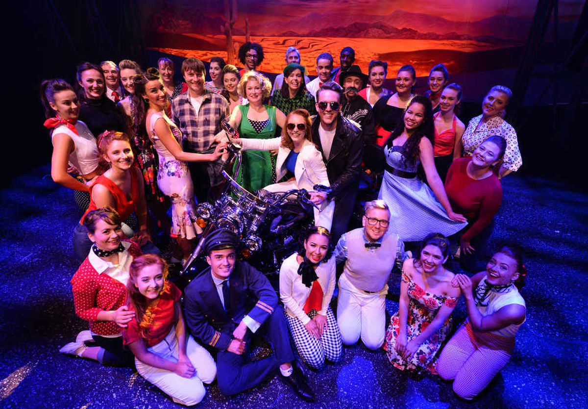 The cast of All Shook Up