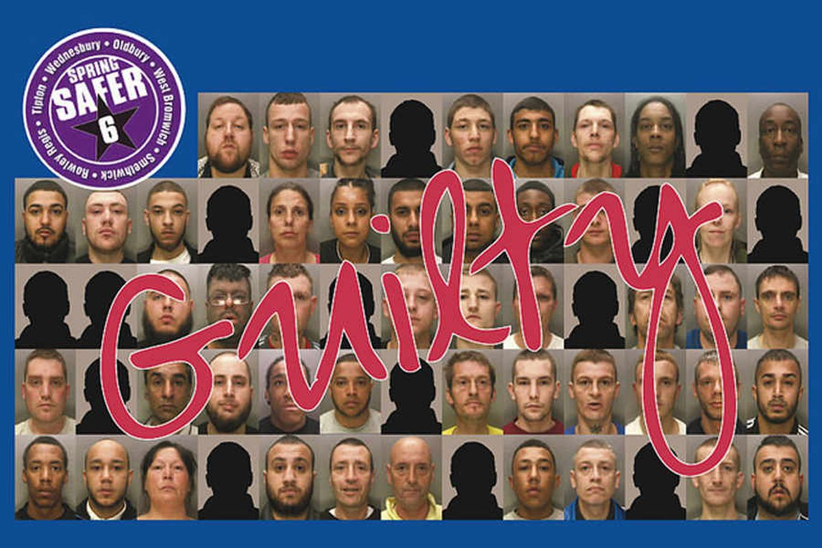 Named and shamed: The families caught in a major Sandwell crime blitz that saw 100 years of jail sentences handed down