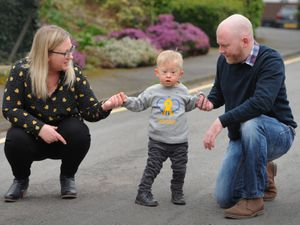 Rory Haywood, aged two, with mother Kathryn Jones, and father James Haywood