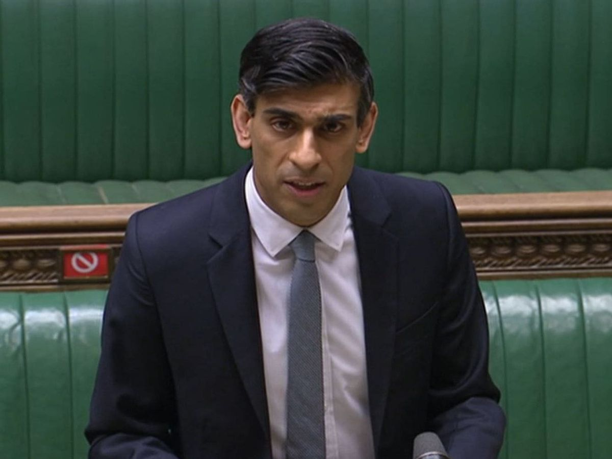 Rishi Sunak delivering his Budget