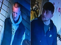 CCTV: Bridgnorth thieves take hundreds of pounds worth of clothes off hangers before walking out in broad daylight