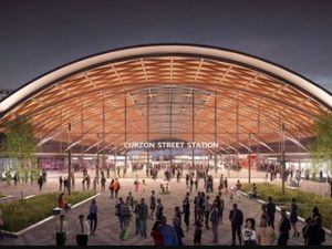 An artist's impression of the new Curzon Street station in Birmingham
