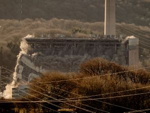 The latest demolition saw the 'Tank Bay' brought down at Ironbridge Power Station