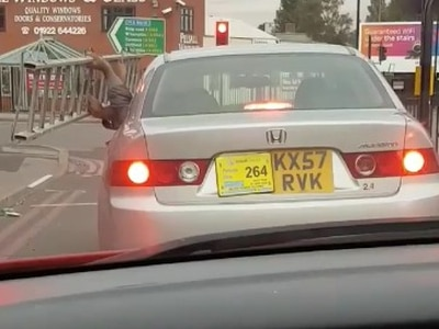 WATCH: Uber passengers take ladder on journey through Walsall