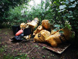 Rubbish at Mill Lane.