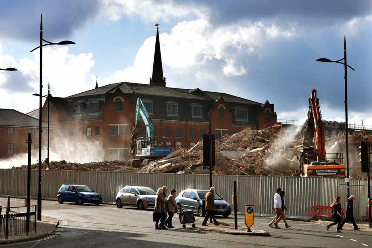 PICTURED: Wolverhampton Netto flattened