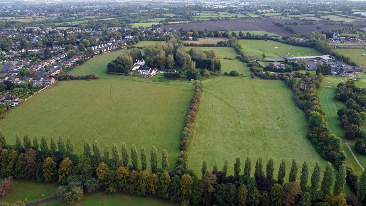 At Calderfields, Walsall, nearly all of the fields in this photo are earmarked for housing