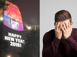 Hilarious typo spotted in Sydney's new year celebrations