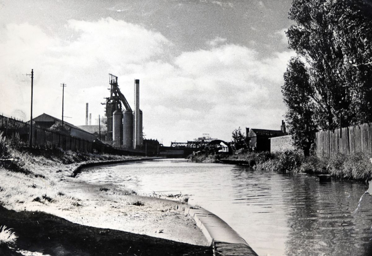 Bilston steel works pictured from the cut in 1966