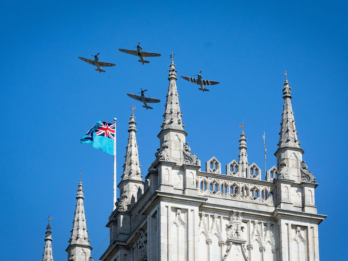 A flypast to mark the 80th anniversary of the Battle of Britain