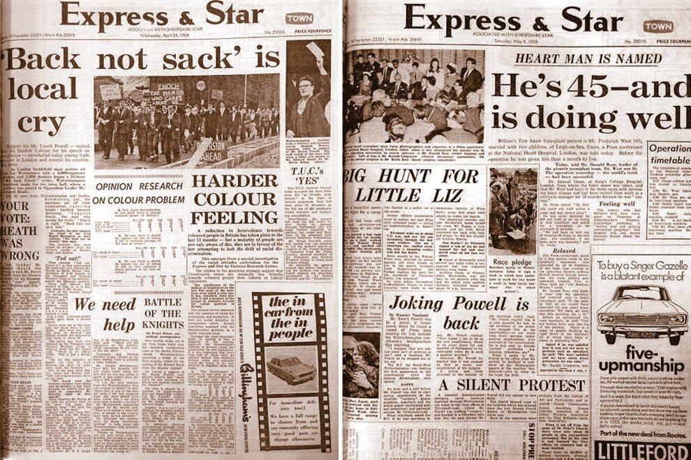 Enoch Powell Look Back At The Express Amp Star Archive On