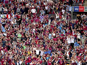 Aston Villa fans in the stands