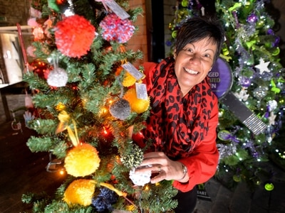 Pom pom Christmas tree tackles loneliness in Dudley