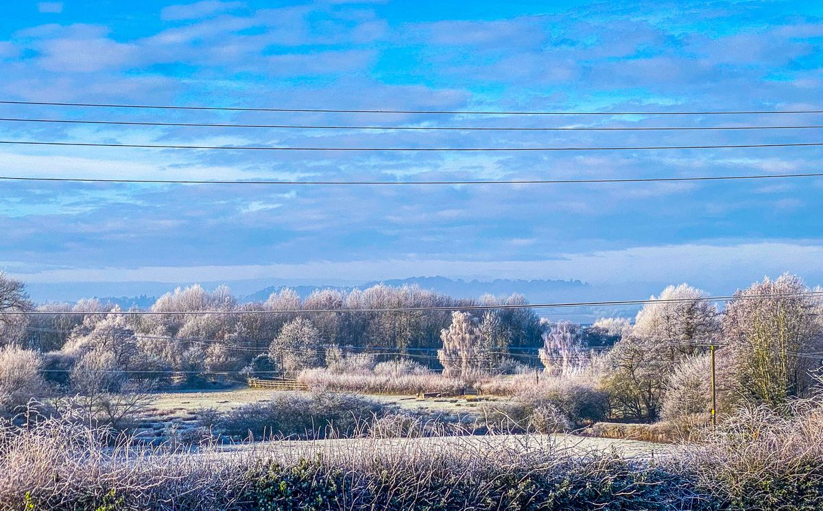 Frosty scene in  Stanton upon Hine Heath, near, Shrewsbury. Photo: Jemma McCarthy.