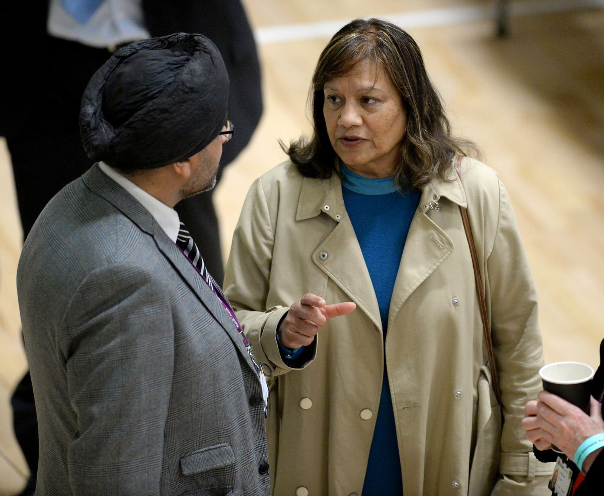Valerie Vaz, Labour MP for Walsall South, at the count