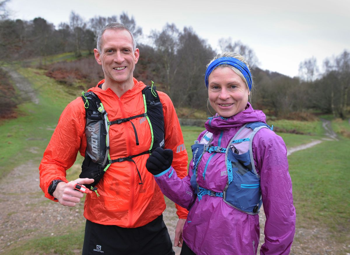 Taking part in the Cannock Chase Trig Point Race, at Milford Common, Stafford, Neil Wilkes, of Stourbridge, and Mel Price, of Church Stretton