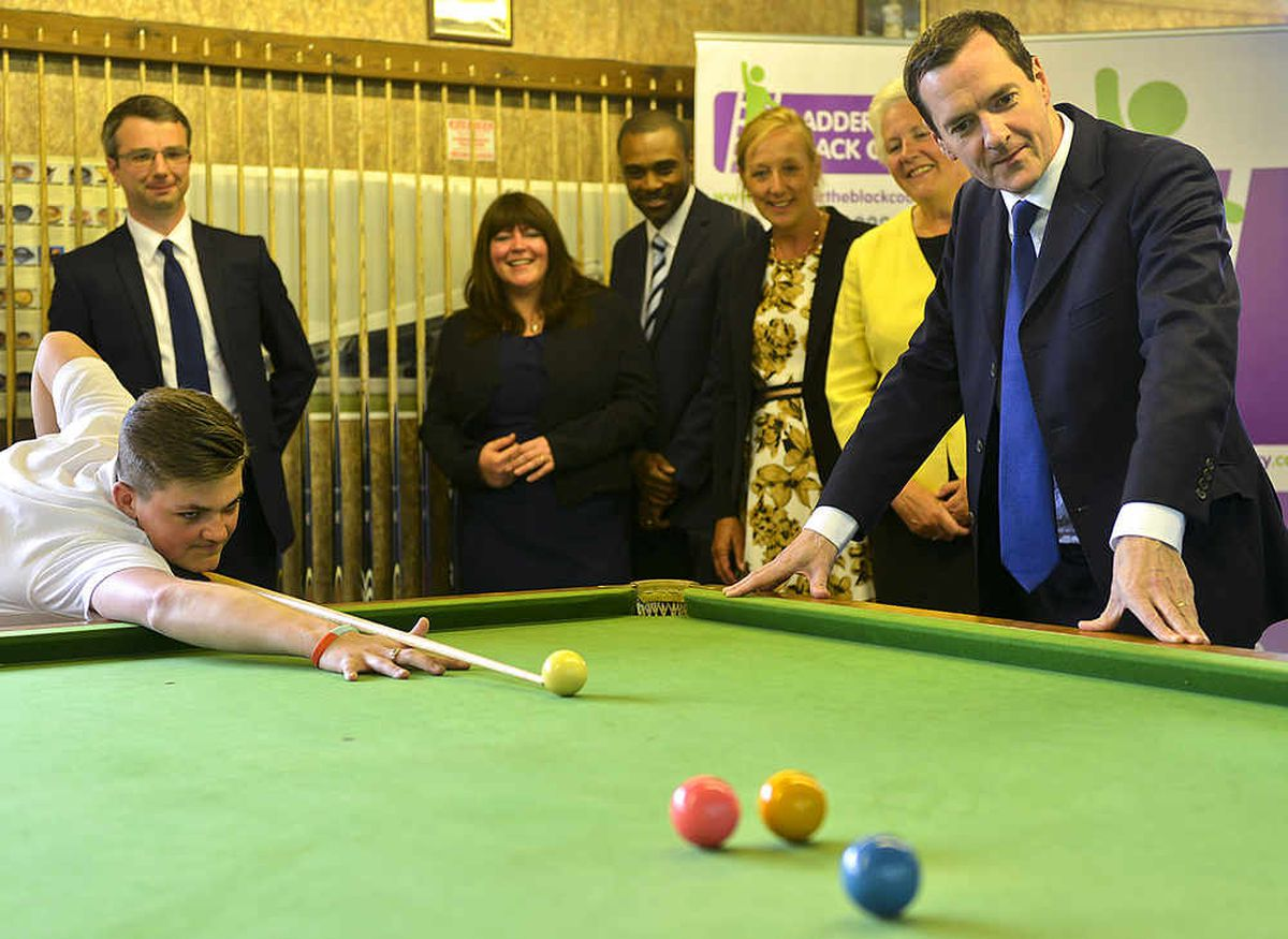 George Osborne visits B&W Billiards, Cradley Heath