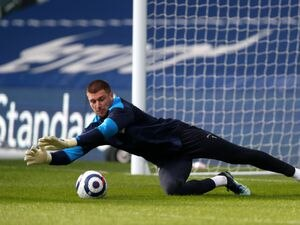 Sam Johnstone of West Bromwich Albion during the pre-match warm up.