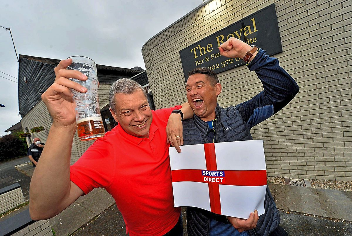 Ian Ball and Kev Salt from were watching the game at The Royal in Albrighton