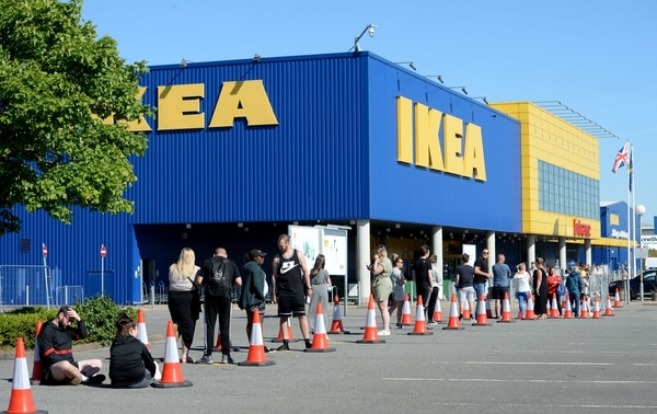 IKEA in Norwich sees shoppers queue as it reopens