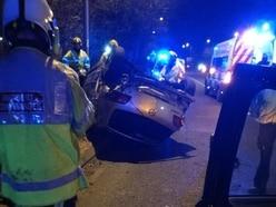 Car flips over in Willenhall crash