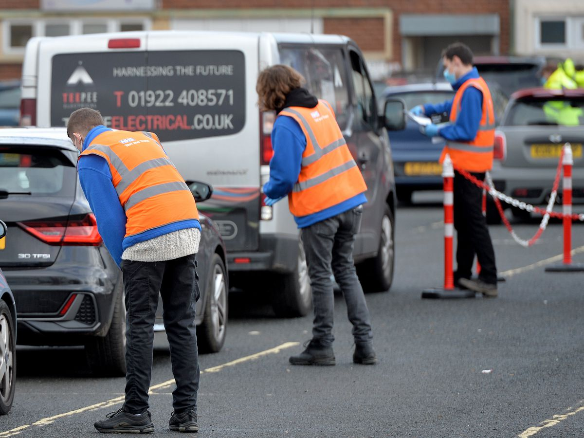New drive-through test centres have been set up in Walsall and kits have also been delivered