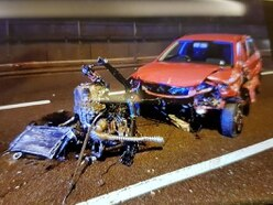 M6 delays after suspected drink-driver smashes into central reservation