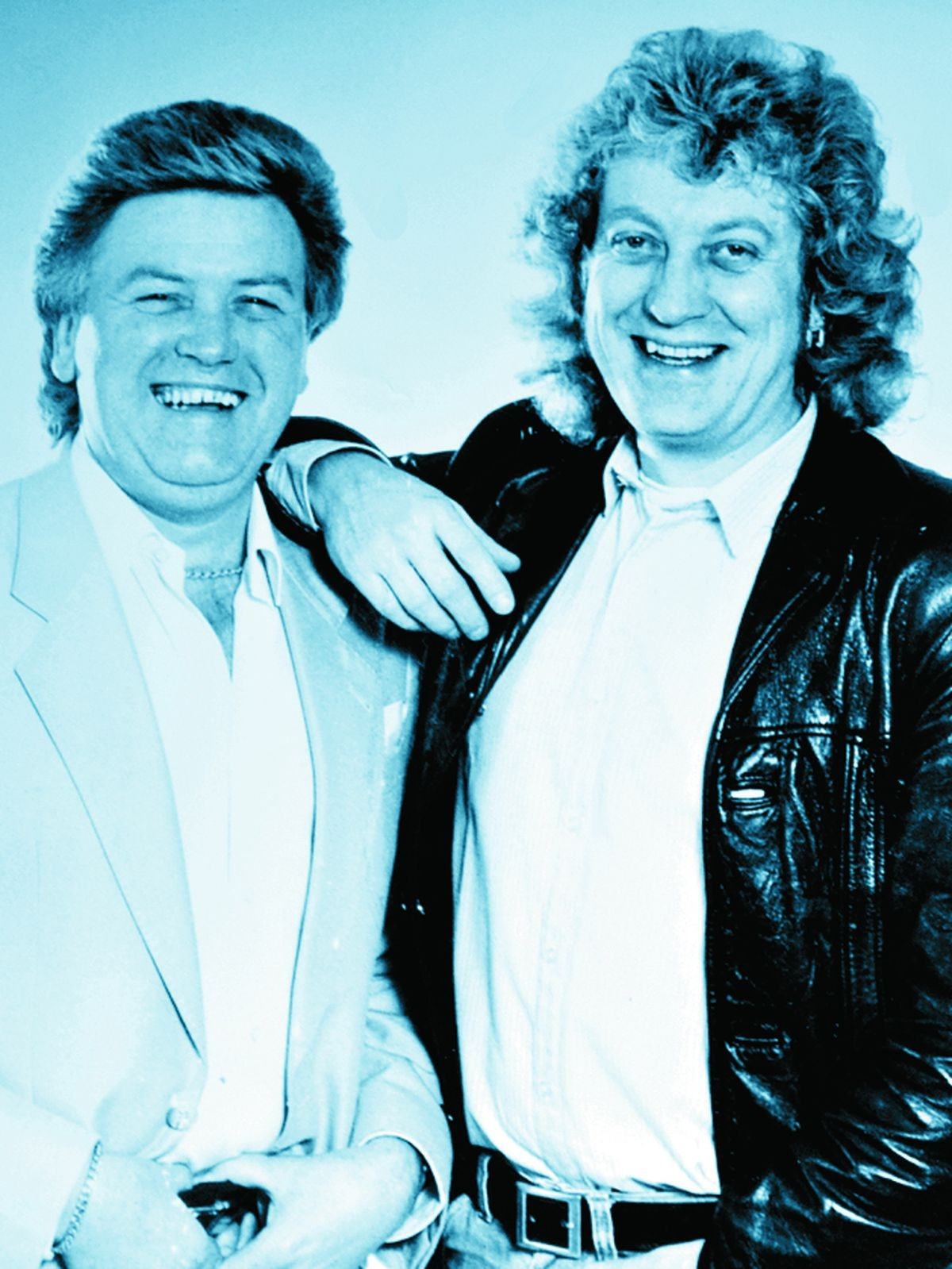 Roger with Slade frontman Noddy Holder