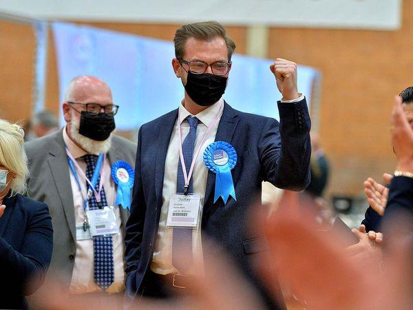 Councillor Adam Davies wins the Brierley Hill seat