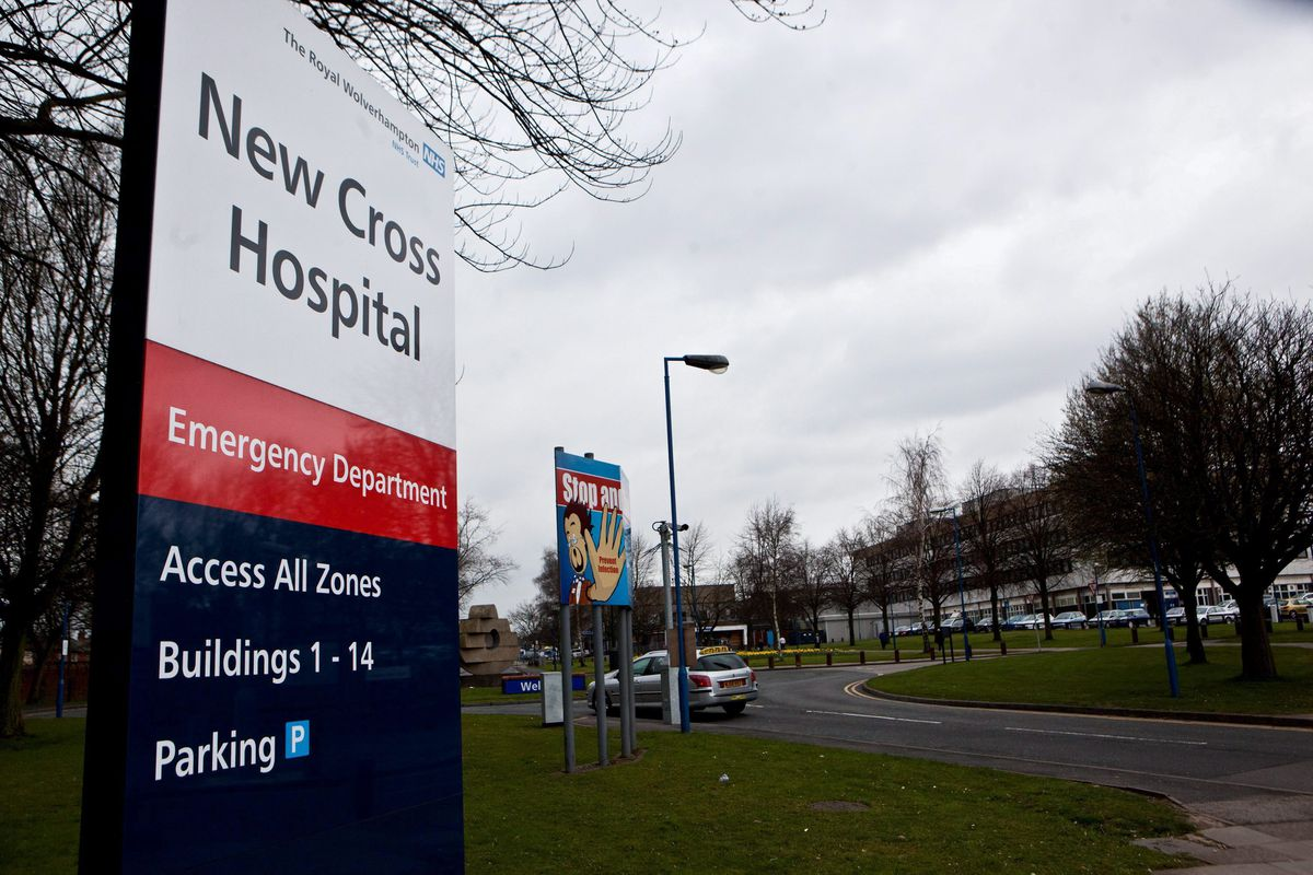 Cheryl returned to her former workplace at Wolverhampton's New Cross Hospital