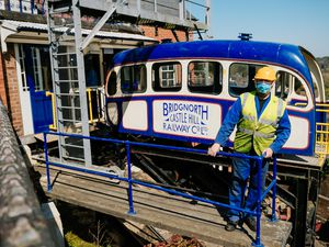 Chief engineer Barry Evans at Bridgnorth Cliff Railway