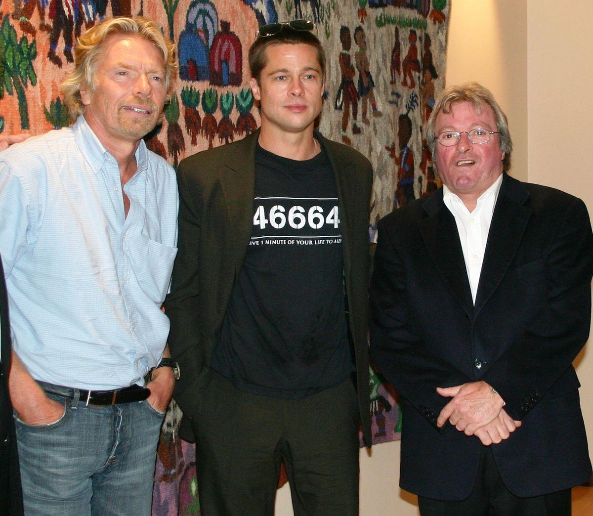 Sir Richard Branson, Brad Pitt and Mike